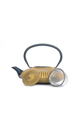 Beta Ba3075 Cast Iron Teapot-demir Döküm Demlik Gold 770 Ml 1