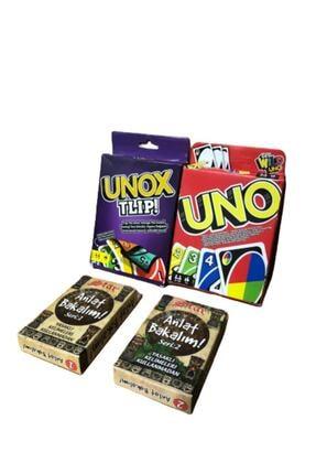 Brother Toys Uno Unox Tlip Anlat Bakalım Seri1 ve Anlat Bakalım Seri-2 Aile Oyun Kartları Seti 1