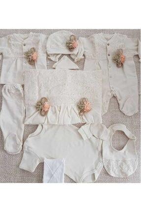 Bebbemini Kız Bebek 10 Parça Organik 0-3 Ay Hastane Çıkışı Yenidoğan Set 0