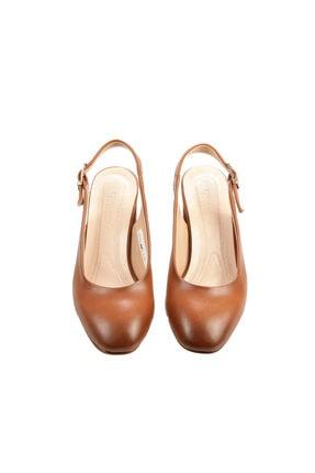 PUNTO Kadın Taba Renk Kısa Topuk Ayakkabı 2