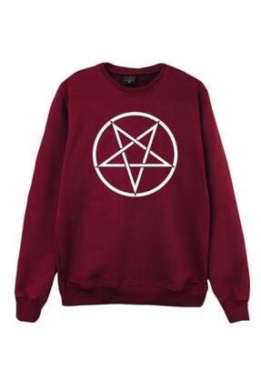 fame-stoned Unisex Bordo Baskılı Sweatshirt 0