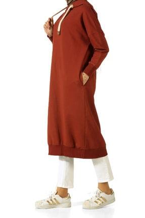 ALLDAY Kadın Turuncu Kuşgözlü Penye Sweatshirt 1