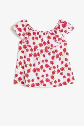 Koton Kız Çocuk Kırmızı T-Shirt 0