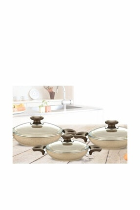 Gülsan Safran 6 Parça Granit Omlet Seti 0