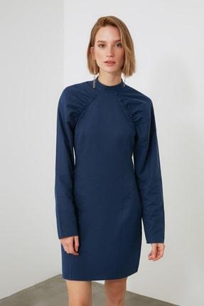 TRENDYOLMİLLA Lacivert Kol Detaylı Elbise TWOAW21EL2002 2