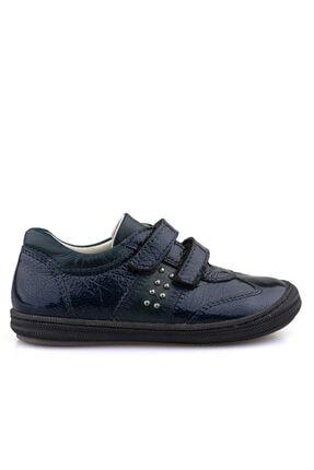Kız Cocuk Lacivert Rugan Deri Havuzlu Ayakkabı 100082K