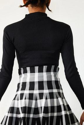 Xena Kadın Siyah Degaje Detaylı Bluz 1KZK3-10787-02 4