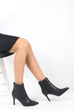 ayakPARK Kadın Siyah Ince Topuk Sivri Burun Bot Ayakkabı 2