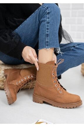 meyra'nın ayakkabıları Taba Süet Lastikli Postal 0