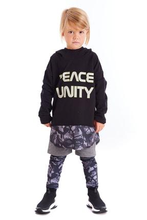 Colorinas Çocuk Siyah Unity Slogan Baskılı Sweatshirt 4