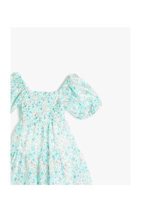 Koton Beyaz Desenli Kız Çocuk Elbise 2