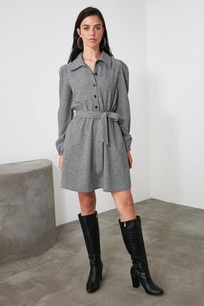 TRENDYOLMİLLA Çok Renkli Kuşaklı Elbise TWOAW21EL2067 0