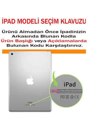 MOBAX Apple Ipad Air 2 Kılıf Pu Deri Smart Case A1566 A1567 Mor 2