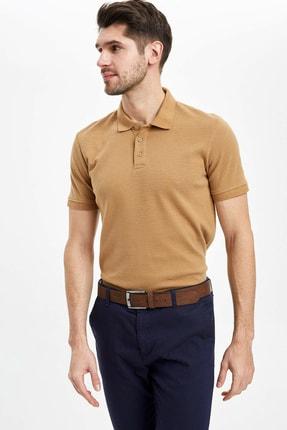 Defacto Regular Fit Polo Yaka Basic Kısa Kollu Tişört 0