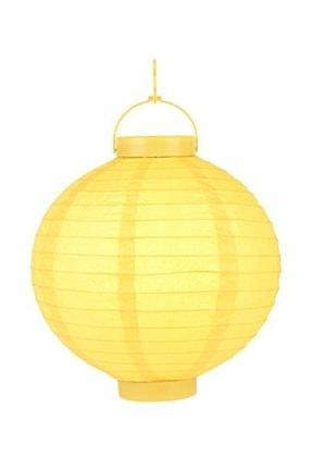 Pandoli 20 Cm Led Işıklı Kağıt Japon Feneri Sarı Renk 0