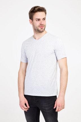 Kiğılı V Yaka Slim Fit Tişört 0