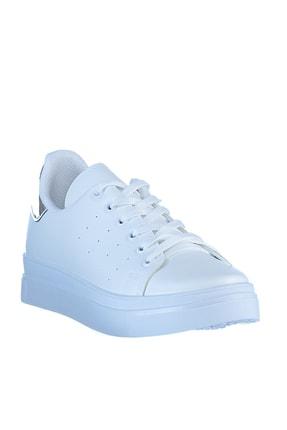 Soho Exclusive Beyaz Gumus Kadın  Sneaker 4
