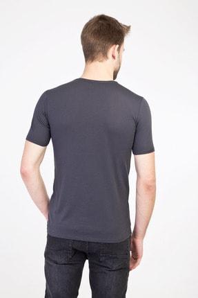 Kiğılı Erkek Koyu Antrasit V Yaka Slim Fit Tişört 2