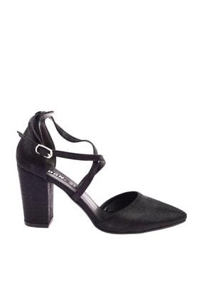 Dgn 1101 Kadın Sivri Burun Parmak Dekolteli Çapraz Bilekten Bağlı Topuklu Ayakkabı 20Y 1