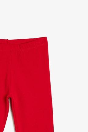 Koton Kız Kırmızı Düz Tayt 0YKG47896OK 2