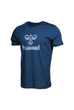 HUMMEL Admir Mavi Kısa Kollu Erkek T-Shirt 3