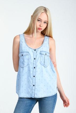 Kadın Açık Mavi Gömlek UCB010379A56
