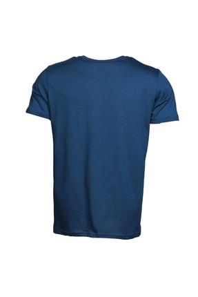 HUMMEL Admir Mavi Kısa Kollu Erkek T-Shirt 4