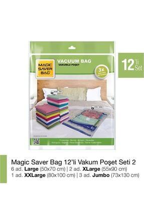 Magic Saver Bag 12´li Vakumlu Poşet Seti 2 0