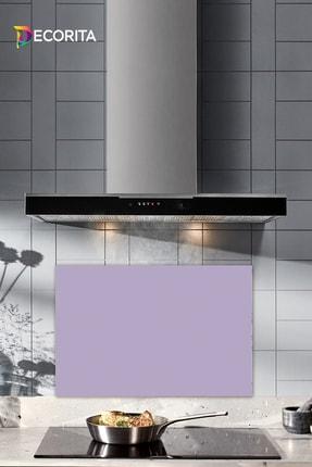 Decorita Düz Renk - Lila | Cam Ocak Arkası Koruyucu | 40cm x 60cm 0