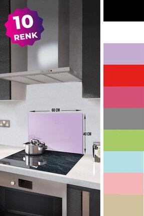 Decorita Düz Renk - Lila | Cam Ocak Arkası Koruyucu | 40cm x 60cm 1