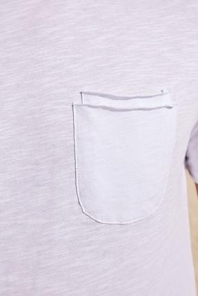 TRENDYOL MAN Beyaz Erkek Kısa Kollu Cepli  Slim Fit T-Shirt TMNSS20TS0305 4