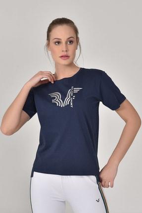 bilcee Lacivert Kadın T-Shirt GS-8623 4