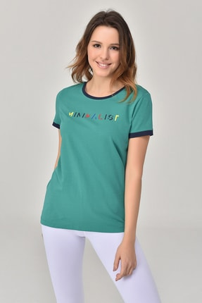 bilcee Yeşil Kadın T-Shirt GS-8070 0