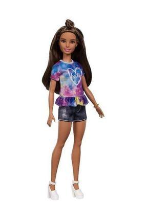 Barbie Fashionistas Bebek ve Aksesuarları Hello Tişörtlü FYB31-FBR37 0