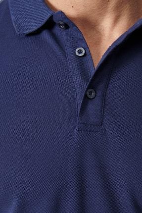 Altınyıldız Classics Erkek Lacivert Polo Yaka Cepsiz Slim Fit Dar Kesim %100 Koton Düz Tişört 1