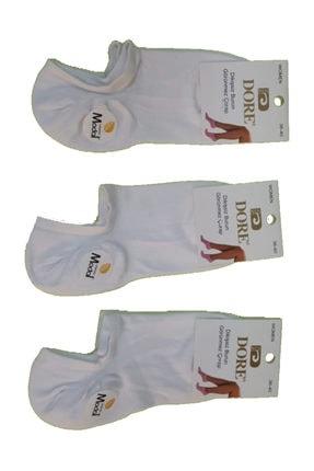 تصویر از 12 Çift Beyaz Renk Dikişsiz Modal Çorap