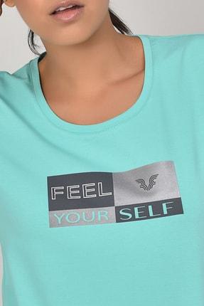 bilcee Turkuaz Kadın T-shirt  GS-8614 3