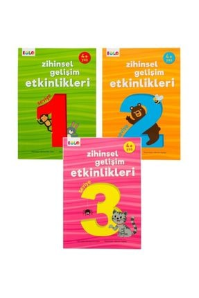 eolo yayınları 4+ Yaş Zihinsel Gelişim Etkinlikleri - 3 Kitap Set 0