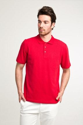 Kiğılı Erkek Kırmızı Düz Kesim Polo Yaka T-Shirt - Cdc01 1