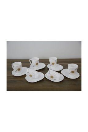 Luminarc Sequins 6'lı Beyaz Çay Fincanı Seti 220 ml 0
