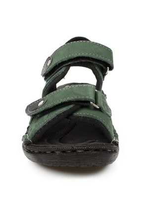 Toddler 7029 P Çift Cırt Yeşil Çocuk Sandalet 2
