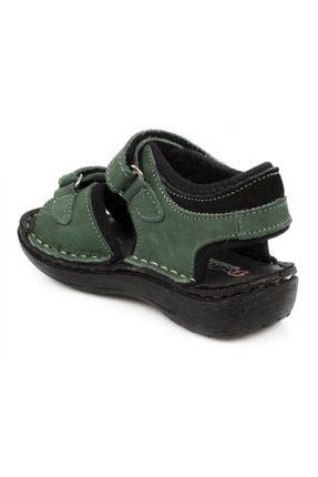 Toddler 7029 P Çift Cırt Yeşil Çocuk Sandalet 3
