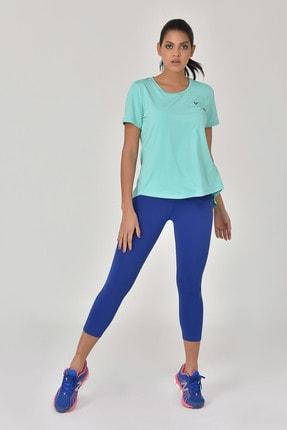 bilcee Turkuaz Kadın Sırt Detaylı Kadın T-Shirt GS-8110 3