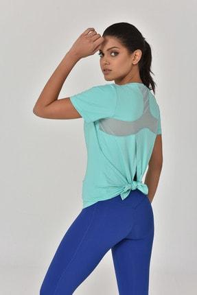 bilcee Turkuaz Kadın Sırt Detaylı Kadın T-Shirt GS-8110 1