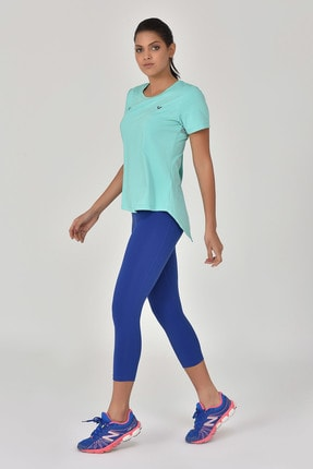 bilcee Turkuaz Kadın Sırt Detaylı Kadın T-Shirt GS-8110 4