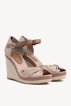 Tommy Hilfiger Kadın Gri Dolgu Topuklu Ayakkabı Iconıc Elena Sandal FW0FW00905 2