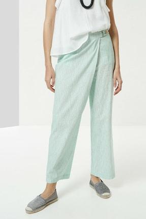 Yargıcı Kadın Nil Yeşili Toka Detaylı Pantolon 0YKPN3112X 2