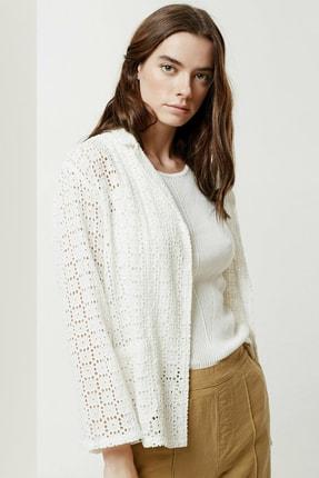Yargıcı Kadın Kırık Beyaz Brode Ceket 0YKCK5150X 1