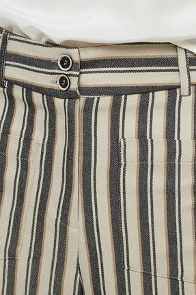 Yargıcı Kadın Antrasit Çizgili Cep Detaylı Pantolon 0YKPN3110X 4