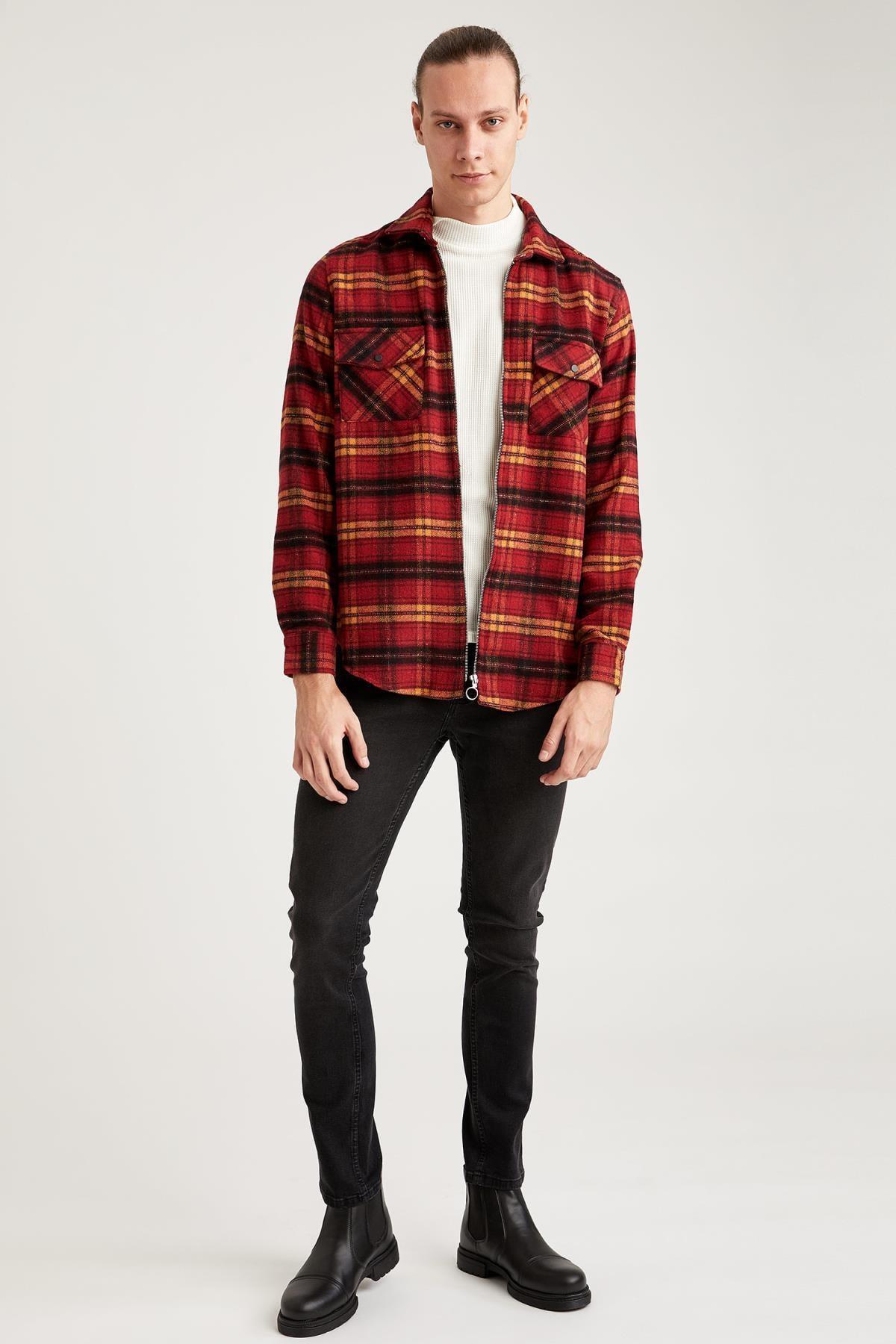 Defacto Pedro Slim Fit Normal Bel Dar Paça Siyah Jean Pantolon 2